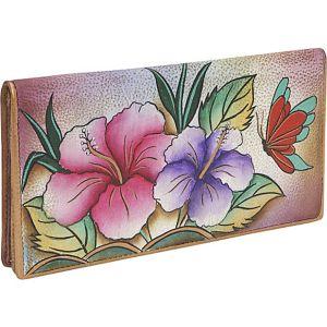 Ladies 2 Fold Slim Wallet - Hawaiian Hibiscus