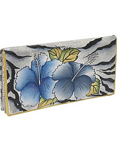 Ladies 2 Fold Slim Wallet - Wild Hibiscus by Anuschka