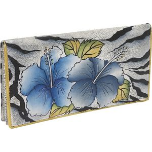 Ladies 2 Fold Slim Wallet - Wild Hibiscus