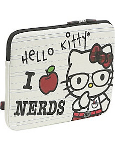 Hello Kitty 'I Love Nerds'  Laptop Sleeve by Loungefly
