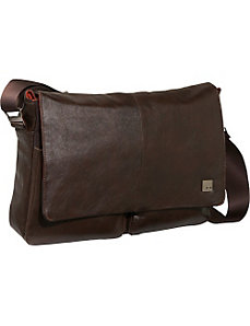 Kobe Soft Leather Laptop Messenger by Knomo