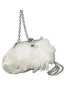 Satin w/ Feather Accents by Coloriffics Handbags