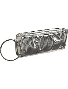 Metallic evening wristlet by J. Furmani