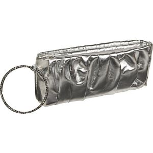 Metallic evening wristlet
