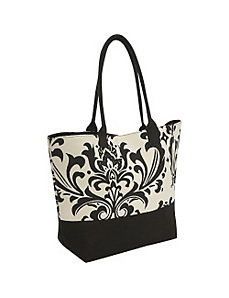 Damask Canvas Tote by Earth Axxessories