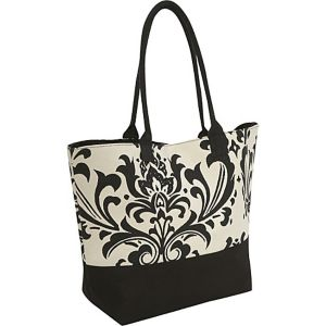 Damask Canvas Tote