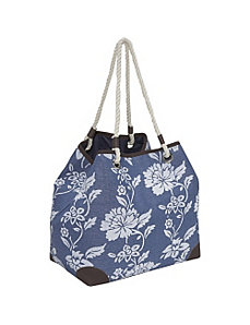 Paper Straw flower print 4-poster bag by Magid