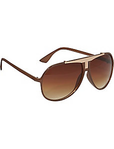 Plastic Aviator Sunglasses by Rocawear Sunwear