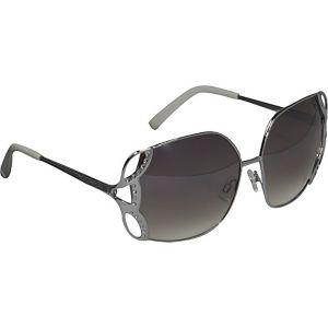 Metal Oversized Glam Sunglasses