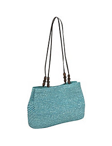 Milan Straw EW Shoulder Bag by Magid
