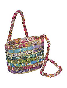 Straw Bag With Multi Fabrics by Cappelli