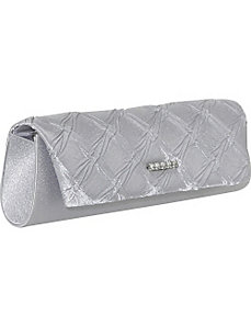 Textured Satin Clutch by Magid