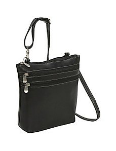 Cross Body Zip Bag by Le Donne Leather