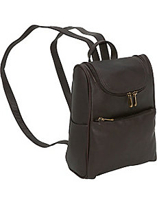 Women's Everyday Backpack Purse by Le Donne Leather