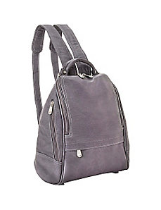 U Zip Mid Size Backpack/Purse by Le Donne Leather