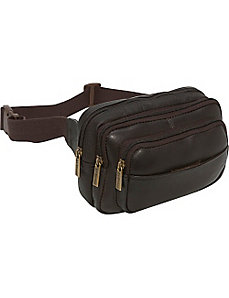 Four Compartment Waist Bag by Le Donne Leather
