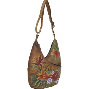 Crossbody Hobo - Tropical Paradise