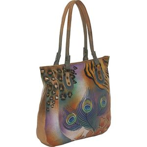 Large Tote - Premium Peacock Safari