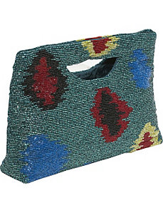 Beaded Ikat Handheld by Moyna Handbags