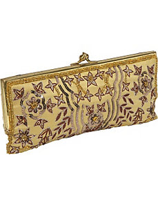 Framed Beaded Evening Clutch by Moyna Handbags