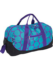Big Dots Aqua Duffel Bag by Wildkin