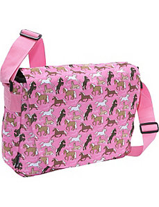 Horses in Pink Laptop Messenger Bag by Wildkin