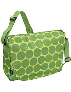 Big Dots Green Laptop Messenger Bag by Wildkin