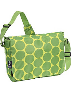 Big Dots Green Kickstart Messenger Bag by Wildkin