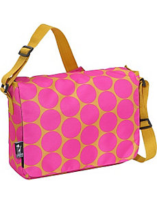 Big Dots Hot Pink Kickstart Messenger Bag by Wildkin