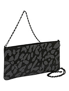 Animal Print Metal Mesh Shoulder Bag by Savanna