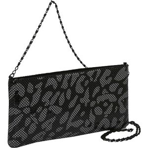 Animal Print Metal Mesh Shoulder Bag