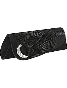 Side Pleat Ring Jewel Clutch by Magid