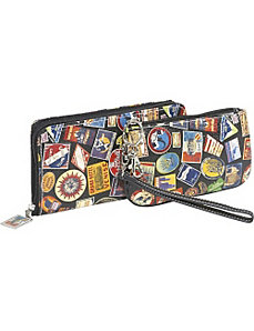 Vintage Hotel-Zip Around Travel Wallet and Camera by Sydney Love