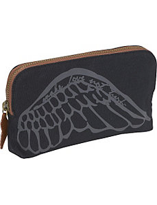 Wing Cosmetic Bag by Make Love Not Trash