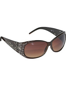 Rhinestone Round Fashion Sunglasses for Women by SW Global Sunglasses