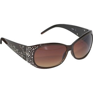 Rhinestone Round Fashion Sunglasses for Women