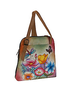 Zip Around Satchel - Floral Garden by Anuschka