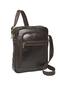 Distressed Leather iPad / eReader Day Bag by Le Donne Leather