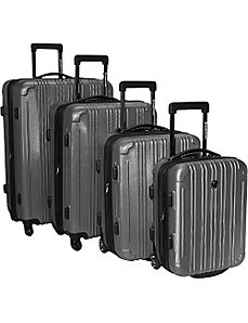 New Luxembourg 4 Piece Exp. Hardside Luggage Set by Traveler's Choice