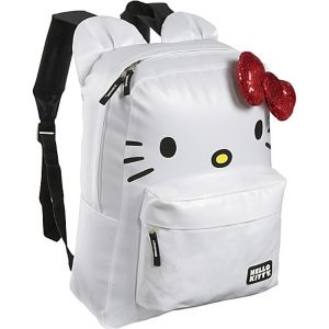 Hello Kitty White Backpack with Ears