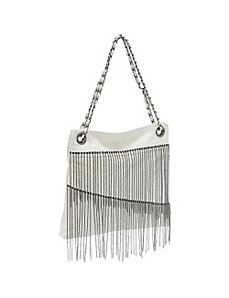 Faux Leather Chain Fringe Bag by Ashley M