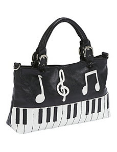 Piano Keyboard Handbag by Ashley M