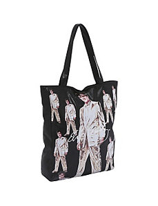 Elvis Metallic Tote Bag by Ashley M