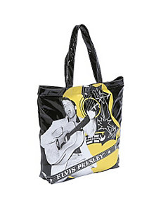 Elvis Faux Patent Leather Tote by Ashley M