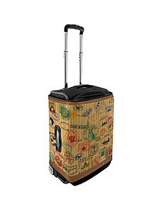 Large Luggage Cover - Travel Stamps by CoverLugg