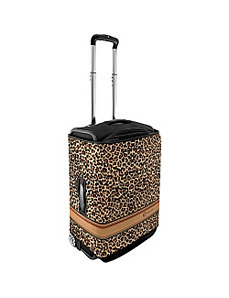 Large Luggage Cover - Brown Leopard by CoverLugg