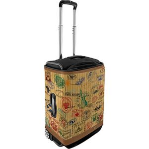 Small Luggage Cover - Travel Stamps