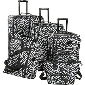 Animal Print 5-Piece Luggage Set