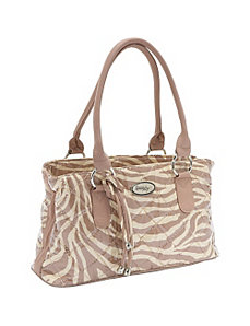 Reese Bag, Tan Zebra by Donna Sharp