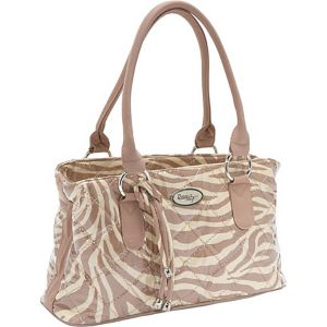 Reese Bag, Tan Zebra